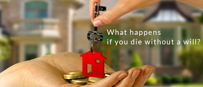 What happens if you die without a will?